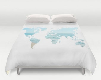 Zodiac constellation stars blue navy comforter home bedroom duvet cover world map ocean beach blue white twin full queen king bedspread bedding dorm room gumiabroncs Image collections