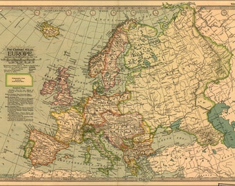 Poster, Many Sizes Available; Map Of Europe 1897