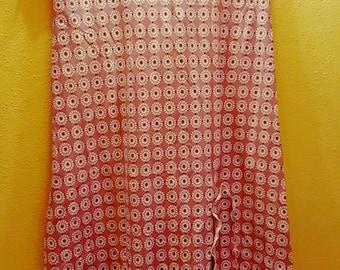 Longuette skirt in pink lycra pattern size 40/42