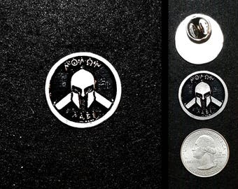 Pewter Molon Labe Pin or Magnet