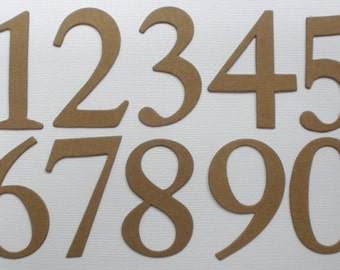 "2"" - ELEGANT NUMBERS --  Bare CHiPBOARD Die Cuts - 2 of each Number"