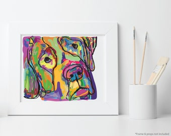 Custom Pet Pop Art Portrait Illustration, Printable Digital File: PDF JPG - You Print - Dog Portrait, Custom Pet Art