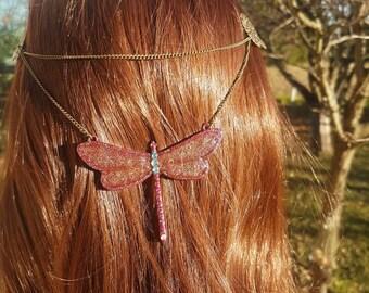 Wristband with hexagonal charms geometric resin circle star heart hexagone