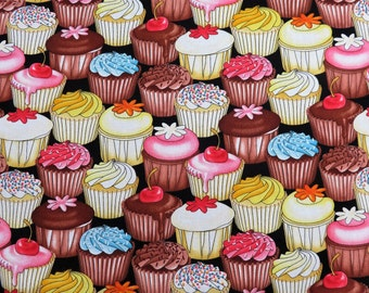 Cupcakes Birthday Food Holiday Timeless Treasure Cotton Fabric #2147 By the Yard