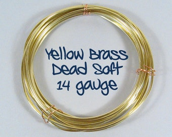 14ga 50ft DS Yellow Brass Wire
