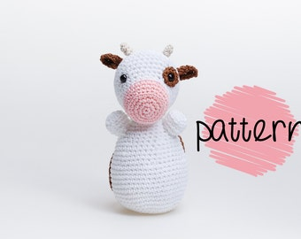 Crochet Cow Amigurumi Pattern, Crochet Toy Pattern, Crochet Cow Pattern, Cow Plush, Crochet Animal, Toy Pattern