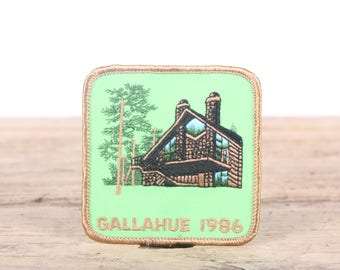 Vintage Scout Patch / Gallahue Cabin 1986 / Girl Scout Patch / Boy Scout Patch / Grunge Patch / Camping Cabin Patch