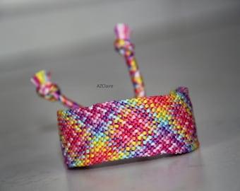 Bracelet Brazilian Rainbow checkerboard