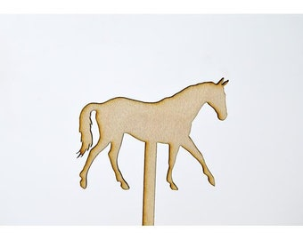 Laser Cut Toppers - Horse - TR-028 - PK of 6 for Cakes, Cupcakes, Donuts and More
