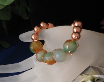 Demelza Bracelet. Artistically wired and a fabulous fashion statement!