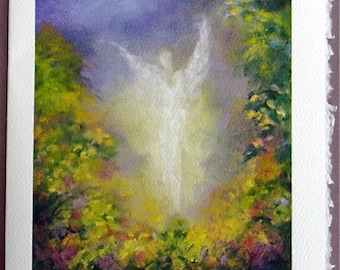 Art Card Blank card Greeting Cards, Greeting Cards, Fine Art cards, Angel, Blank Notecards,
