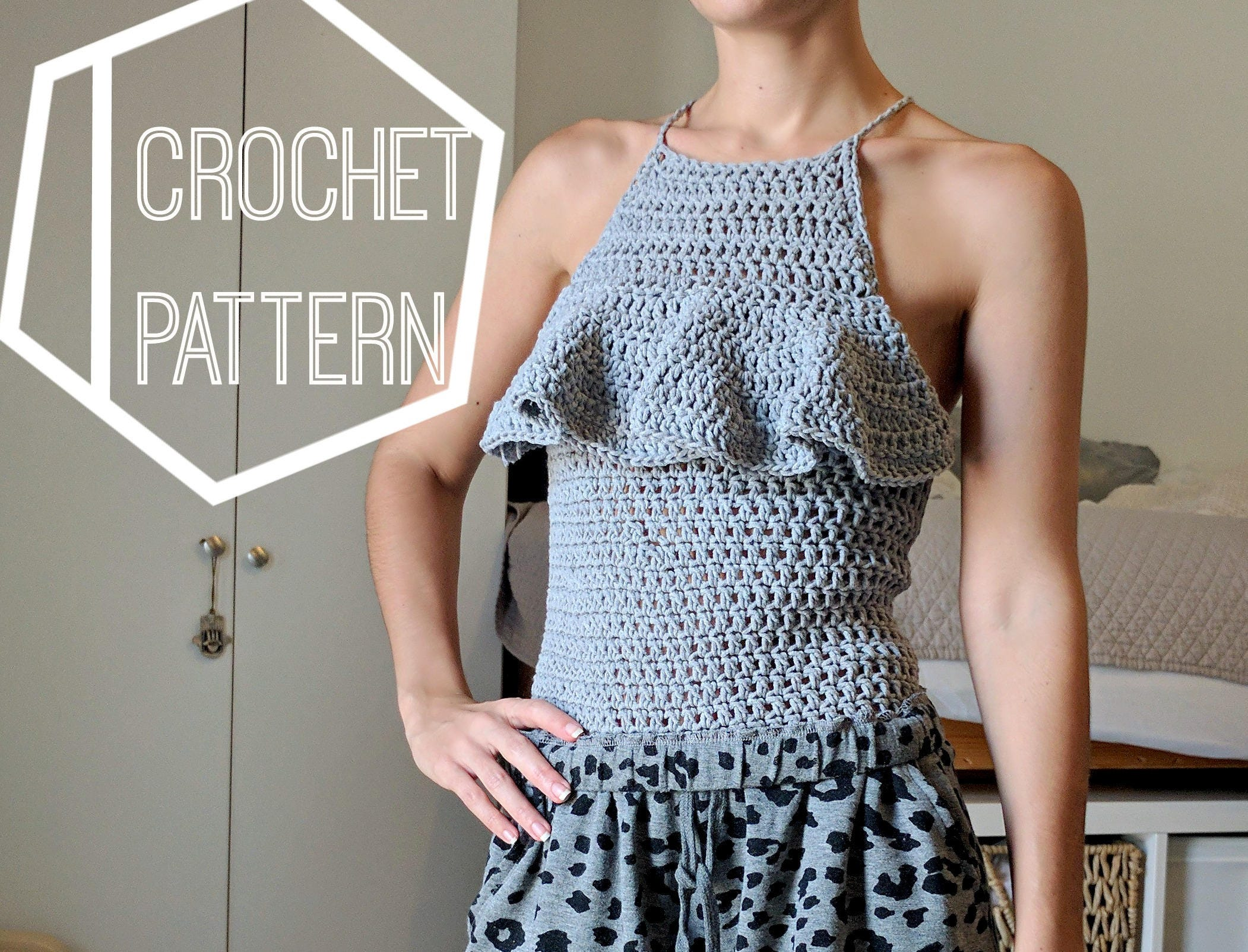 Colorful Stripe and Crochet Halter Tank Top- Lavender ...  Crochet Halter Tank Top