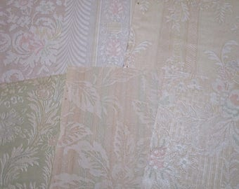 Vintage Wallpaper Bundles-Antique-Embossed-Shabby-SO YUMMY-Paper Parcels-Ephemera
