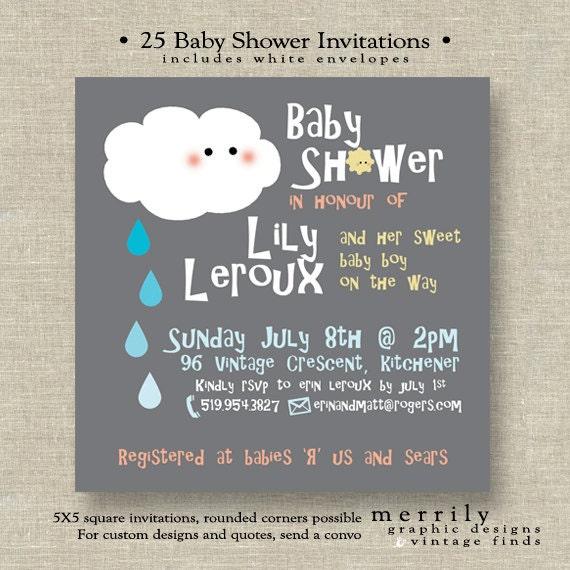 Baby Shower Shower Theme Invitations Customizable