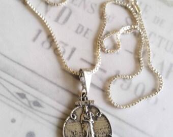 Notre dame necklace etsy necklace notre dame de la garde sterling silver 19x25mm 18 sterling aloadofball Images