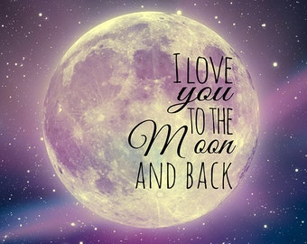 I Love You to the Moon and Back Canvas Art (30x30)
