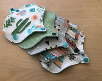 Set of 5 - lip liners, cloth pantyliners, washable, thong liners