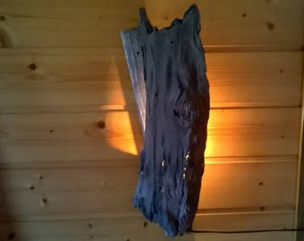 Driftwood wall light