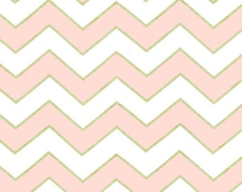 Confection Chic Chevron Pearlized by Michael Miller Fabrics
