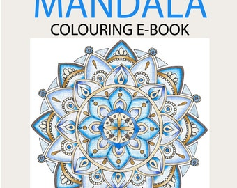 EBOOK - 15 Mandala Designs - Hand Drawn Adult Colouring Pages by MauindiArts