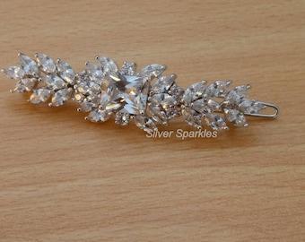 Bridal Barrette,Barrette Hair clip, Wedding Hair Clip, Bridal Hair clip. Hair piece wedding, prom clip, evening hair clip, bridal hair