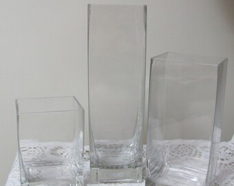 Glass Vases, Wedding Vases, Wedding Centerpiece Vases, Event Vase, Choice of Size, Reception Vases, Flower Vases