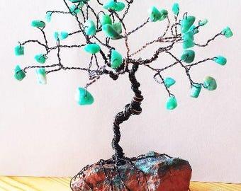 Mini Gem Tree, Custom Order, Wire Tree Sculpture, Family Tree, Friendship Gifts, Cute Desk Accessories