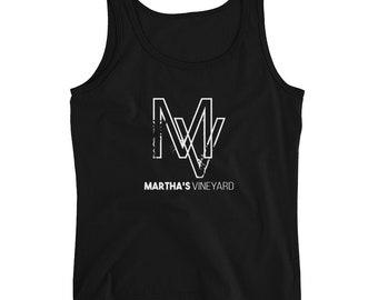 Martha's Vineyard Ladies' Tank Top Massachusetts Tank Top MV Logo