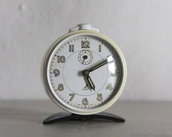 Mid Century French  Alarm Clock Jaz Vintage Clock