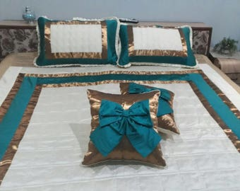 Beautiful dupioni silk duvet/comforter with pillow cover/cushion cover