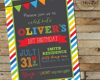 Colorful Birthday Invite