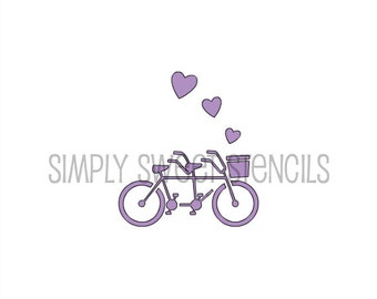 Bicycle Built for Two Stencil