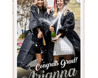 Snapchat geofilter, graduation snapchat, snapchat filter, geofilter, personalized filter, gold filter, rose gold, silver, gifts for her