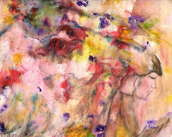 Wounded is a Mixed Media Original on Mixed Media Paper