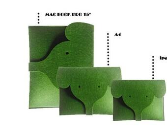 Laptop Case  ,ASUS laptop case  laptop sleeve 14 inch,Felt laptop bag for  Elephant,Fashion laptop bag Green bag Custom bag. LD312