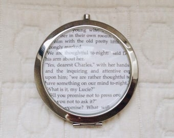Customizable A Tale Of Two Cities bookpage pocket mirror