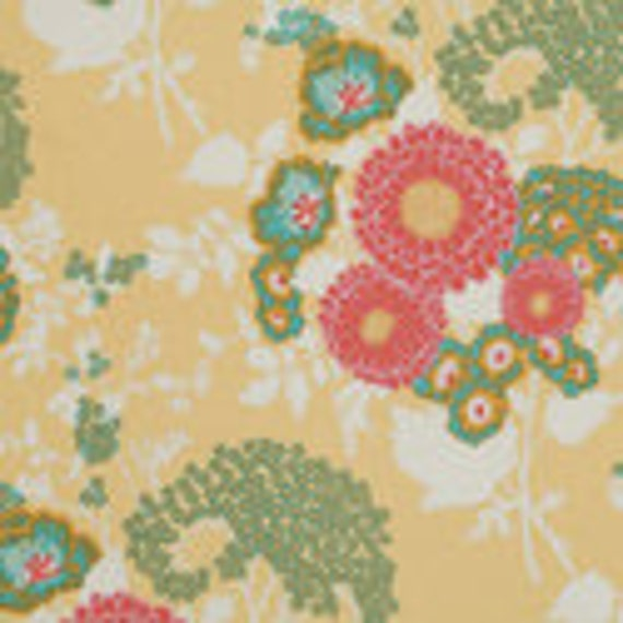 Free Spirit Fabrics Joel Dewberry Botanique Bold Bouquet Butter 1/2 yard to 3/4 yard