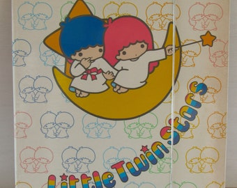 Little twin stars vintage A4 Folder sanrio made in Japan.Stationery tools