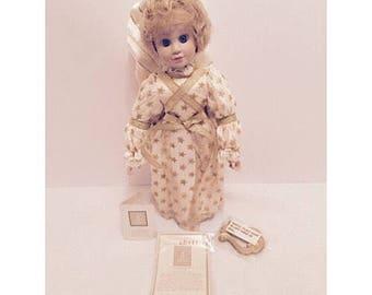 "1994 Avon Tender Memories Porcelain Doll ""First School Play"""