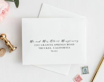 Digital Guest Addressing - Envelope Addressing Printable Add On