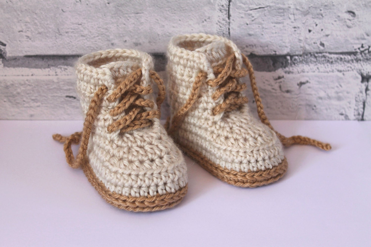 Crochet Shoes Pattern for Baby Boys Combat Boot