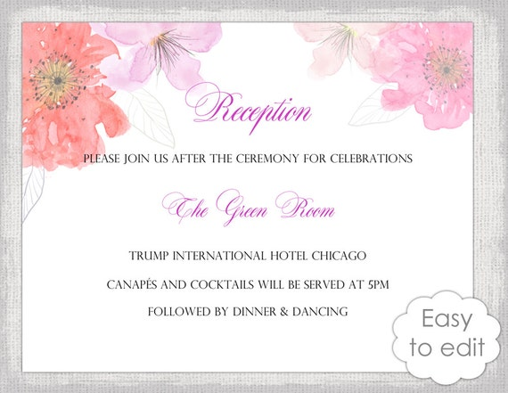reception invitation templates free koni polycode co