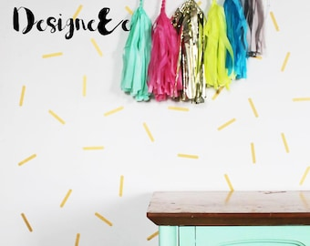 "Wall Stickers - 3"" Confetti - Set of 60"