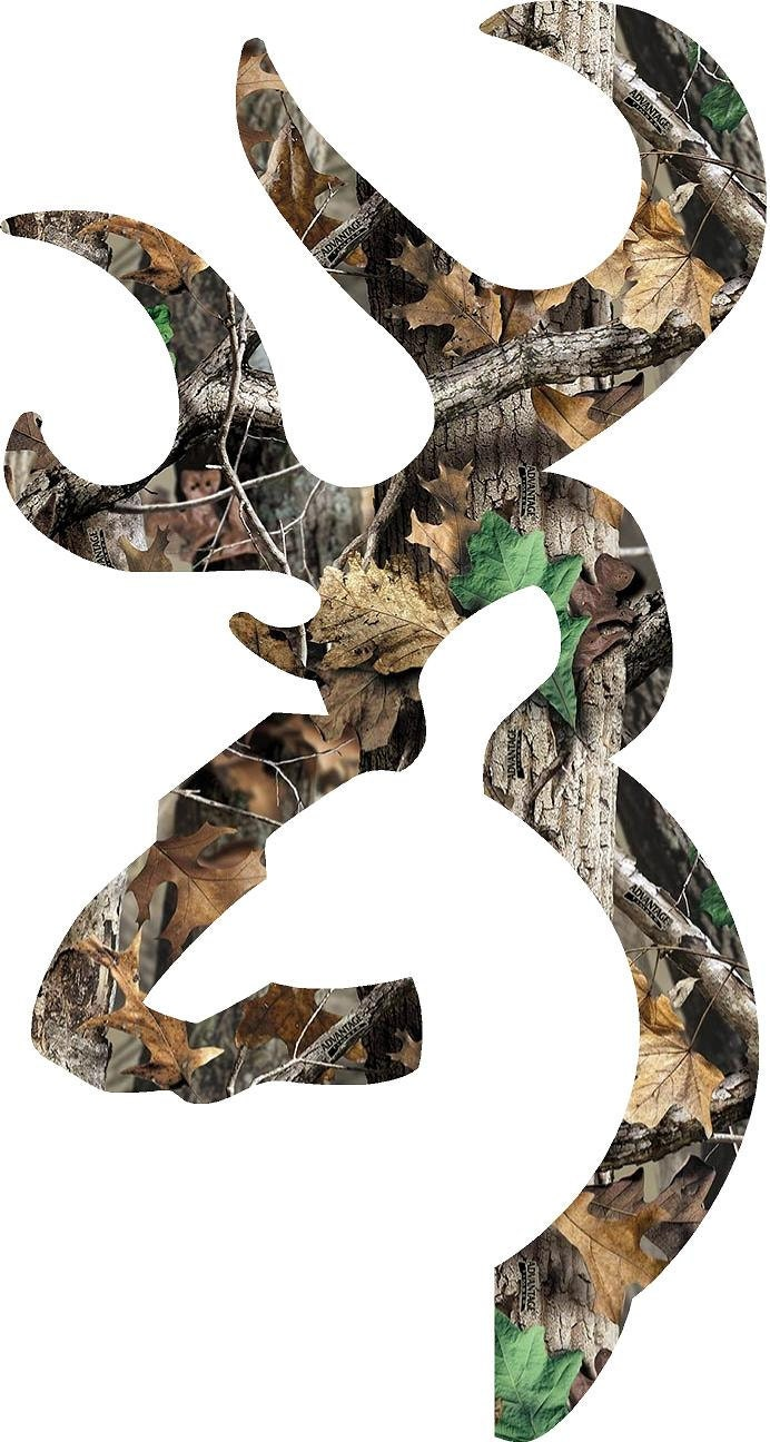 Browning Style Deer Camo Decalsticker 228