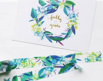 Blue Flower washi tape