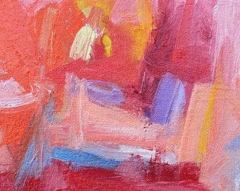 Night and Day GICLEE ART PRINT 8 x 11 pink red pink white abstract colorful