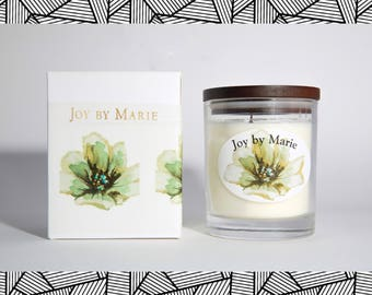 NARCISSUS & BALSAM - Soy Wax Candle, Soy Candle, Essential Oil Soy Candle, Housewarming Gift, Birthday Gift, Mum Gift, Dinner Party Gift