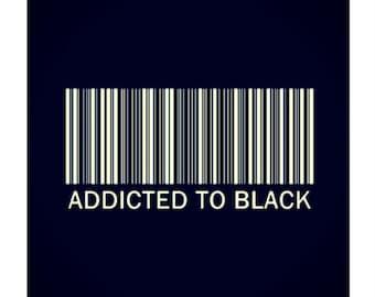 Addicted to Black , Prints, Modern and Minimal Prints, Contemporary Prints, Black, Digital Print, Home decor, Wall Decor, Wall Print Art