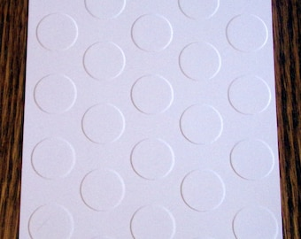LARGE POLKA DOTS Embossed Card Stock Panels Perfect for Scrapbooking and Card Making - Set of 12