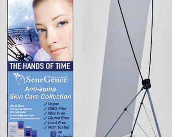 Skin Care Collection Banner with Stand